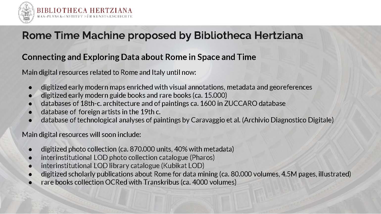 Rome Time Machine project (pres. by Martin Raspe)