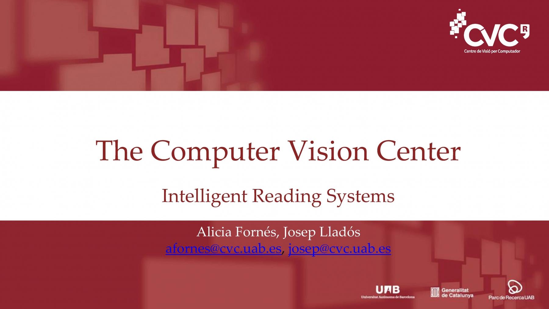 Computer Vision Center (pres. by Alicia Fornés)
