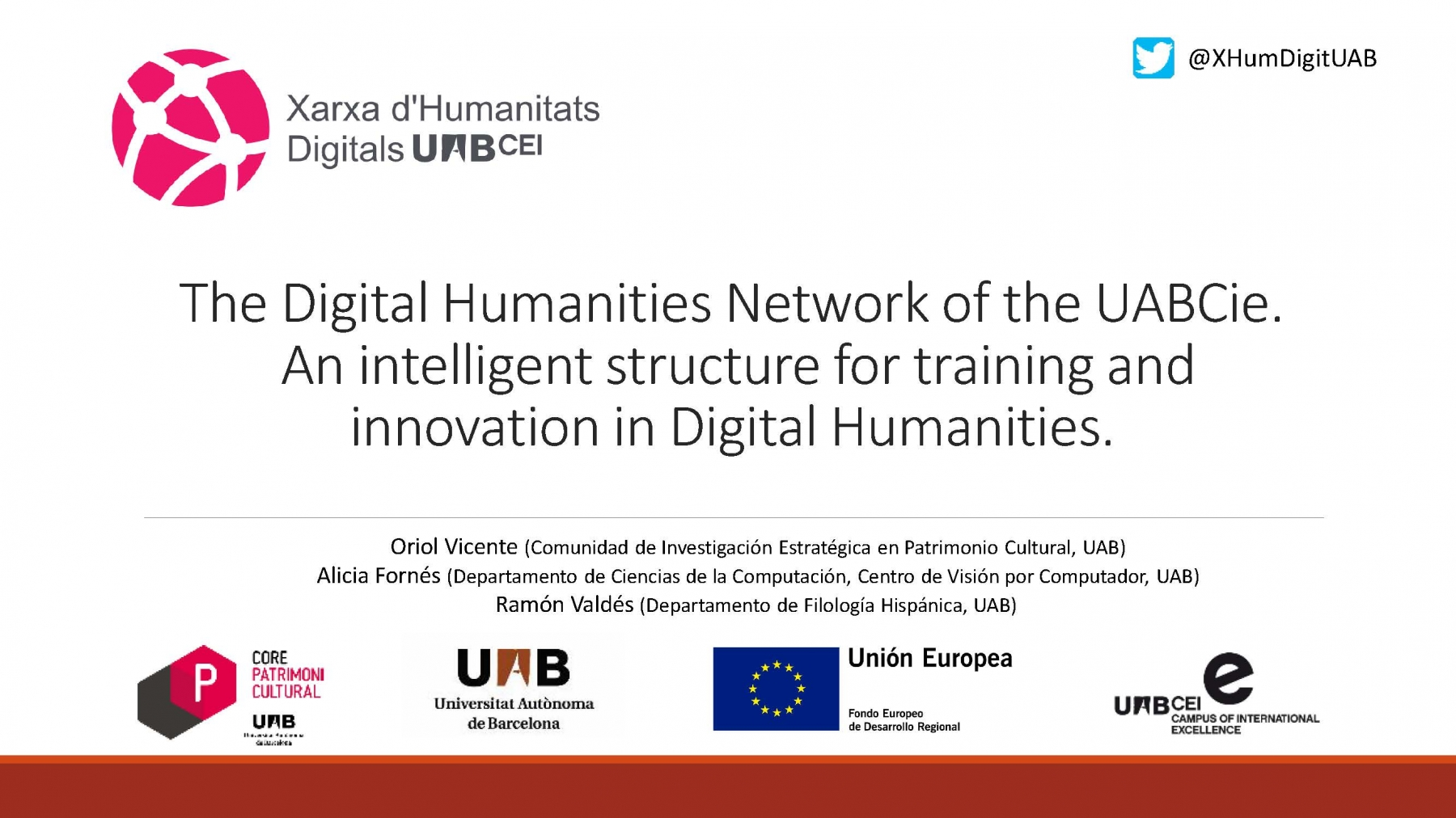 Digital Humanities Network - UAB (pres. by Oriol Vicente)